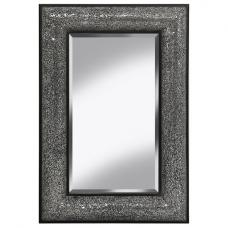 Zofia Decorative Wall Mirror Rectangular In Black Silver