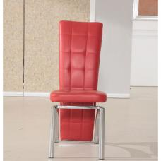 Ravenna Red Faux Leather Dining Room Chair