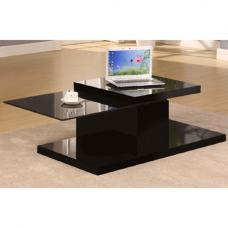 Ridgeway Black High Gloss Finish 360` Motion Coffee Table