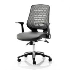 Relay Silver Leather Office Chair