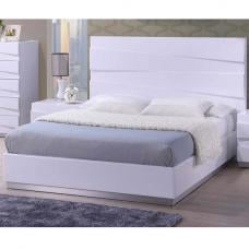 Stirling King Size Bed In White High Gloss