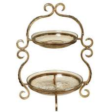Ornate Two Tier Cake Stand