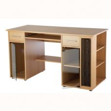 Butler Computer Work Station In Beech Effect