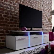 Camilla LCD TV Stand In White Gloss Fronts With LED