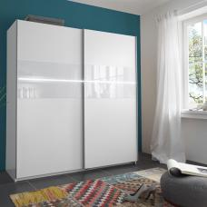 Shine Sliding Wardrobe In Alpine White With 2 Door And Light