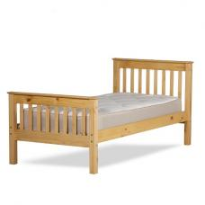 Somerset Contemporary Bed In Waxed Pine