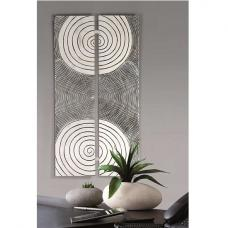 Sphere Wall Painting Rectangular In Antique Silver