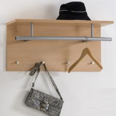 Spot Beech Wall Mounted Coat Rack with Shelf