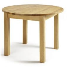 Robyn Extendable Dining Table Round In Solid Oak