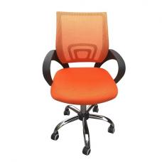 Regan Home Office Chair In Orange With Mesh Back And Chrome Base
