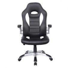 Witney Home Office Chair In White And Black Faux Leather