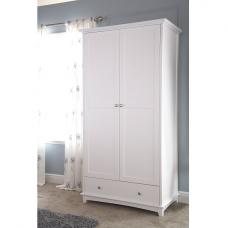 Tornado Wooden Wardrobe In White With 2 Doors 1 Drawer