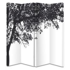 Trees Black And White Room Divider
