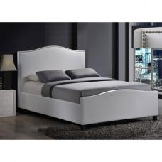 Tuxford White Faux Leather Double Bed