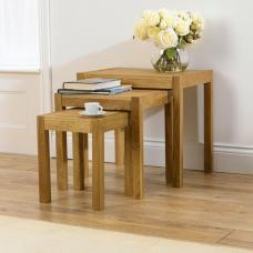 Milan Oiled Oak Set Of 3 Nested Tables