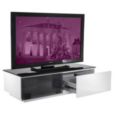 Vienna High Gloss Black And White Low Board TV Stand