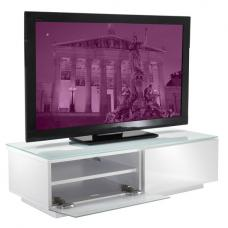 Vienna High Gloss White Low Board TV Stand
