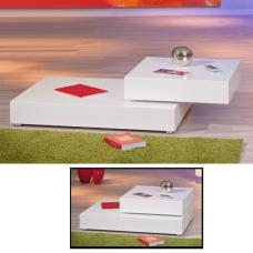 Valdero Sliding Coffee Table In High Gloss White