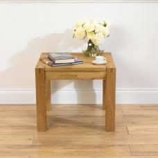 Milan Oiled Oak Lamp Table