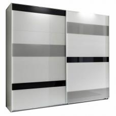 Mondrian Sliding Wardrobe In White With 2 High Gloss Doors
