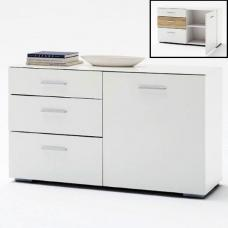 Portland Sideboard In White High Gloss With 1 Door