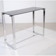 Zeus Black Glass Console Table