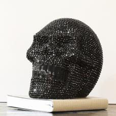 Large Ornament Studded Black Skull