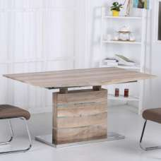 Aaden Wooden Extendable Dining Table In Natural Oak Effect