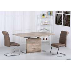 Aaden Extendable Dining Table In Natural Oak Effect 6 Chairs