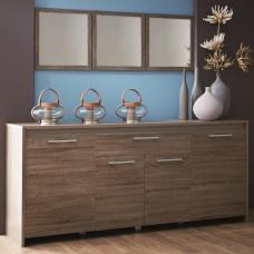 Alaska Wooden Sideboard In Dark Oak With 4 Doors And Drawer