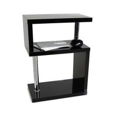 Albania 3 Tier Shelving Unit Black High Gloss