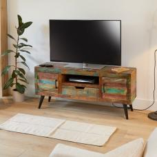Albion Wooden TV Stand Rectangular In Reclaimed Wooden