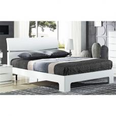 Alcott Modern King Size Bed In White High Gloss