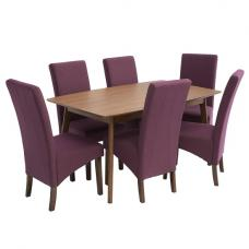 Alecia Wooden Dining Table With 6 Ibis Chairs