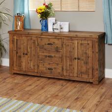 Alena Large Sideboard In Rough Sawn Oak With 4 Doors