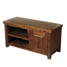 Alexis Wooden Rectangular TV Stand In Dark Acacia Wood