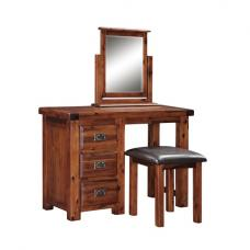 Alexis Wooden Dressing Table Set In Dark Acacia Wood