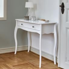 Alice Wooden Dressing Table In White With 1 Drawer
