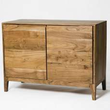 Allegro Wooden Sideboard In Acacia Wood With 2 Doors