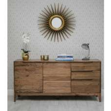 Allegro Sideboard In Acacia Wood With 2 Doors And 3 Drawers