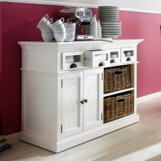 Allthorp Solid Wood Sideboard In White With 2 Doors 4 Drawers