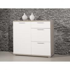 Almera Chest Of Drawers In Noble Beech And White High Gloss