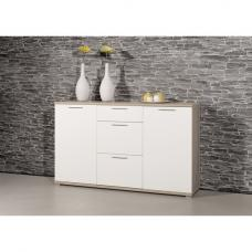 Almera Sideboard In Noble Beech And White High Gloss Fronts