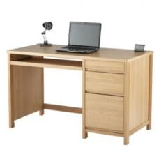 Colby Wooden Home Office Desk In Oak With 3 Drawers