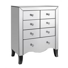 Alvaro Mirrored Chest of Drawers With 7 Drawers