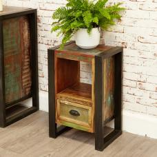 London Urban Chic Wooden Lamp Table With Drawer