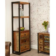 London Urban Chic Wooden Alcove Bookcase With 3 Drawers