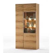 Amble Right Display Cabinet Wide In Core Beech With LED