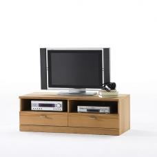 Amble Wooden TV Stand In Core Beech With 2 Drawers