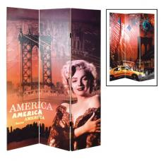 America Canvas Room Divider Screen